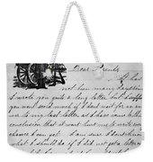 Civil War: Letter, 1862 Weekender Tote Bag