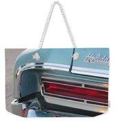 Classic Car Aqua Holiday Weekender Tote Bag