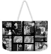 Classic Car Collage In Black And White Weekender Tote Bag