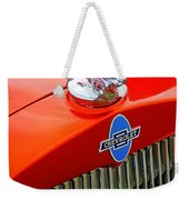 Classic Chevrolet Hood And Grill Weekender Tote Bag