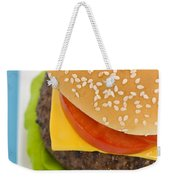 Classic Hamburger With Cheese Tomato And Salad Weekender Tote Bag