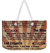 Classic Rock 1969 Weekender Tote Bag
