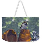 Clay Pot Sparrow Weekender Tote Bag