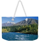 Clear Flowing Honolulu Creek And Fall Weekender Tote Bag