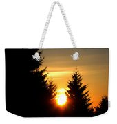 Clearing The Trees In The Morning Weekender Tote Bag