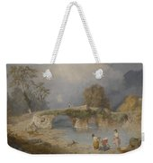 Clearing Up For Fine Weather Beddgelert North Wales 1867 Weekender Tote Bag