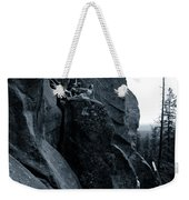 Cliff Dancers Three Black And White Weekender Tote Bag