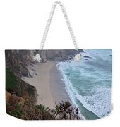 Cliffs And Surf On The California Coast Weekender Tote Bag