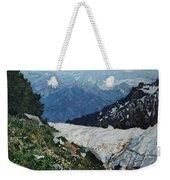 Climbing Mount Rainier Weekender Tote Bag