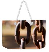 Close Up Of A Chain Link Weekender Tote Bag
