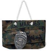 Close-up Of A Duty Master-at-arms Badge Weekender Tote Bag