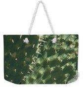 Close-up Of A Prickly Pear Cactus Weekender Tote Bag