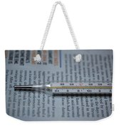 Close Up Of A Thermometer Weekender Tote Bag