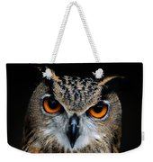 Close Up Of An African Eagle Owl Weekender Tote Bag