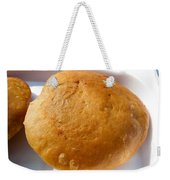 Close Up Of An Indian Food Delicacy Kachori Weekender Tote Bag
