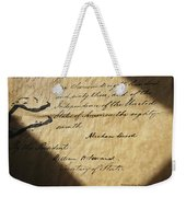 Close-up Of Emancipation Proclamation Weekender Tote Bag