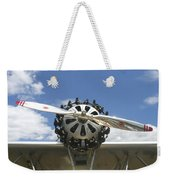Close-up Of Engine On Antique Seaplane Canvas Poster Print Weekender Tote Bag
