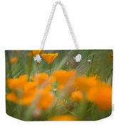 Close Up Of Orange Poppy Flowers Weekender Tote Bag