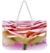 Close Up Of Rose Showing Petal Detail Weekender Tote Bag