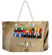 Close-up View Of Military Decorations Weekender Tote Bag