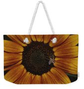 Close View Of A Bee On A Sunflower Weekender Tote Bag