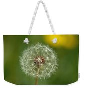Close View Of A Dandelion Gone To Seed Weekender Tote Bag