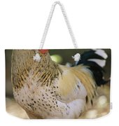 Close View Of A Rooster Weekender Tote Bag