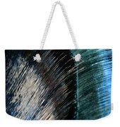 Close View Of A Sheet Of Water Pouring Weekender Tote Bag