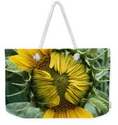 Close View Of A Sunflower Blossom Weekender Tote Bag
