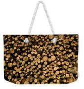 Close View Of Freshcut Wood Waiting Weekender Tote Bag