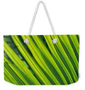 Close View Of Palm Fronds Weekender Tote Bag