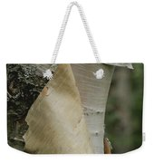 Close View Of Paper-birch Bark Weekender Tote Bag