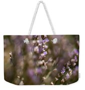 Close View Of Purple Wildflowers Weekender Tote Bag