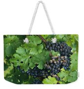 Close View Of Red Grapes On The Vine Weekender Tote Bag