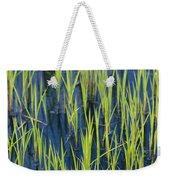 Close View Of Water Grasses Growing Weekender Tote Bag
