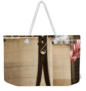 Clothes Pin Statue In Philadelphia Weekender Tote Bag