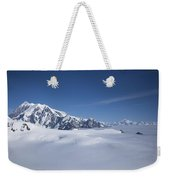 Cloud-covered Bowl Of The Upper Hubbard Glacier Weekender Tote Bag