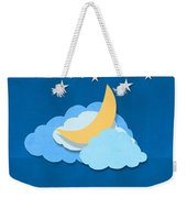 Cloud Moon And Stars Design Weekender Tote Bag