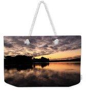 Clouds Going Away At Sunrise Weekender Tote Bag