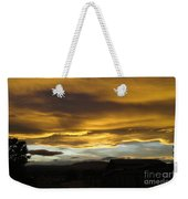 Clouds Illuminated At Sunset Weekender Tote Bag
