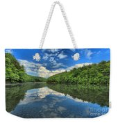 Clouds In The Lake Weekender Tote Bag by Adam Jewell
