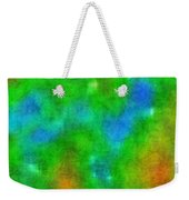 Cloudy Green And Blue Weekender Tote Bag