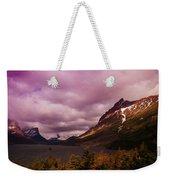 Cloudy Morning At Glacier Weekender Tote Bag