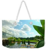 Cloudy Reflections And Lily Pad Companions  Weekender Tote Bag