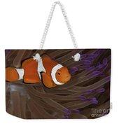 Clownfish In Purple Tip Anemone Weekender Tote Bag