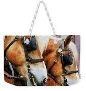 Clydesdale Closeup Weekender Tote Bag