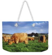 Co Antrim, Ireland Highland Cattle Weekender Tote Bag
