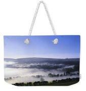 Co Antrim, Ireland Mist Over A Landscape Weekender Tote Bag