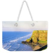 Co Derry, Ireland View Of Cliffs And Weekender Tote Bag