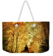Coach On A Road In Autumn Weekender Tote Bag